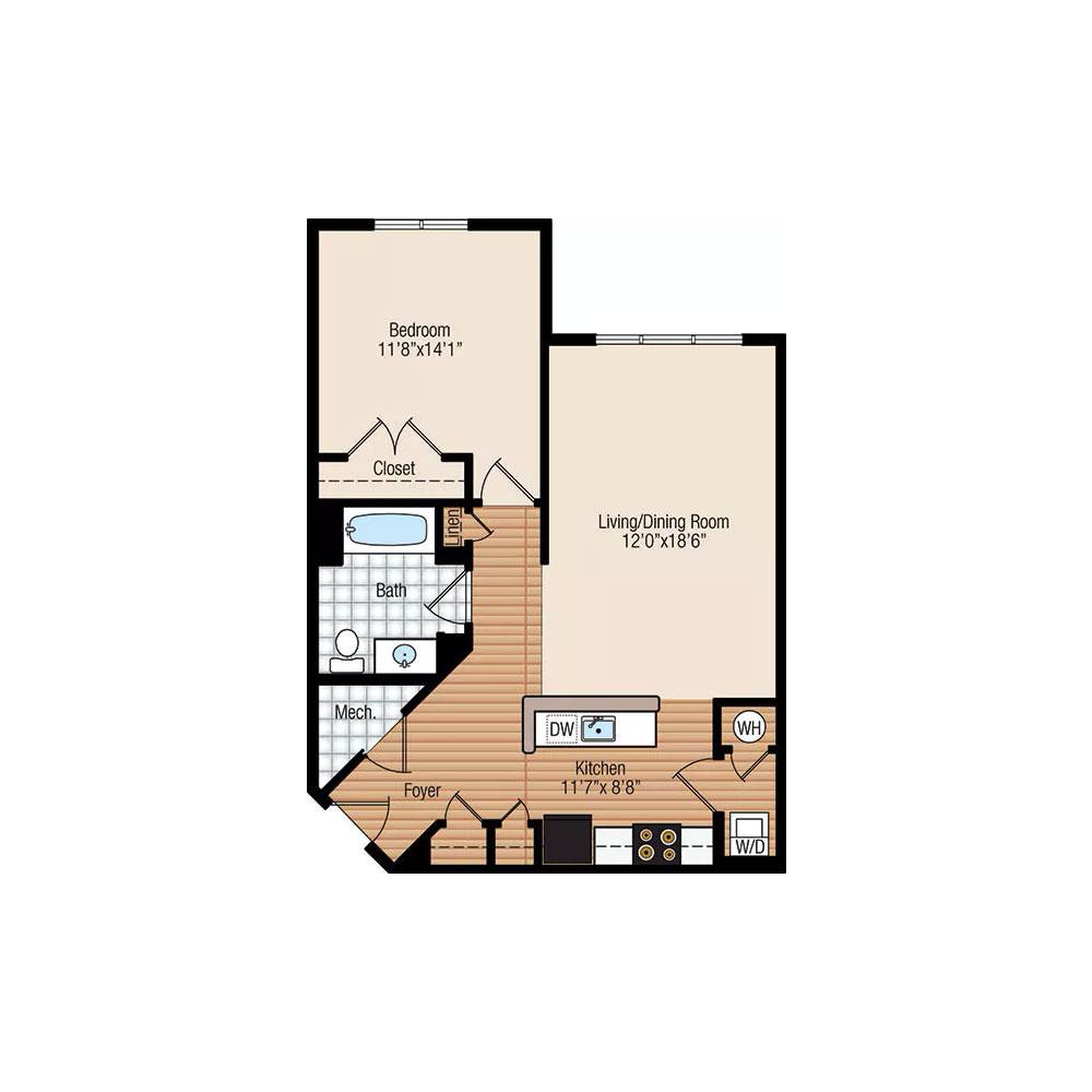 Aspen 1 Bedroom | 1 Bath $1,550