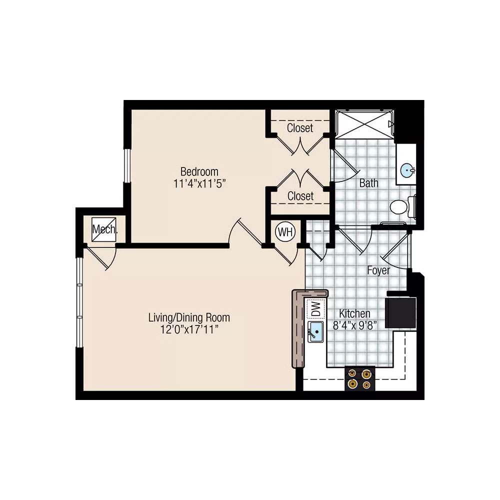 Bayberry 1 Bedroom   1 Bathroom $Call For Pricing