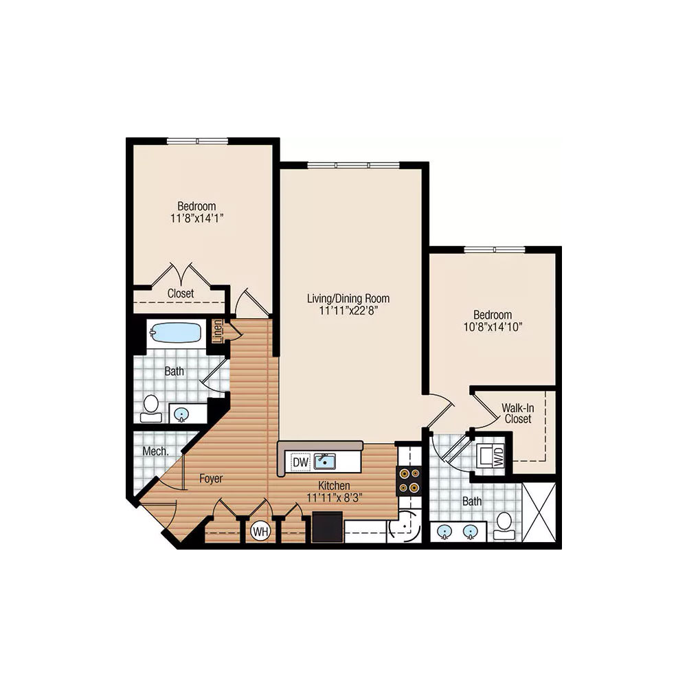 Cypress 2 Bedroom | 2 Bath $Call For Pricing